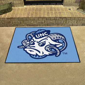 "33.75"" x 42.5"" University of North Carolina Ram Logo All Star Blue Rectangle Mat"