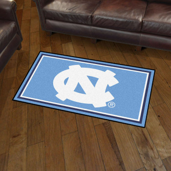 3' x 5' University of North Carolina Blue Rectangle Rug