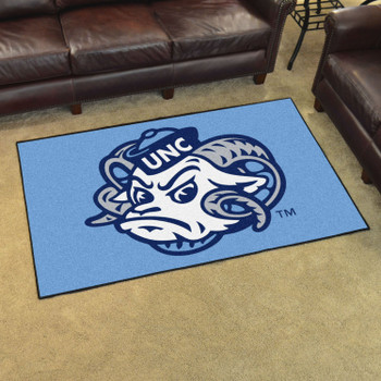4' x 6' University of North Carolina Blue Rectangle Rug