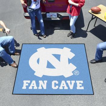 "59.5"" x 71"" University of North Carolina Fan Cave Blue Tailgater Mat"