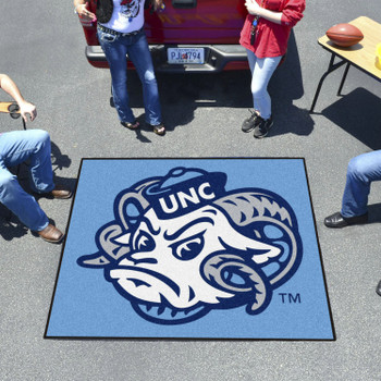 "59.5"" x 71"" University of North Carolina Ram Logo Blue Tailgater Mat"