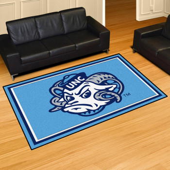5' x 8' University of North Carolina Blue Rectangle Rug