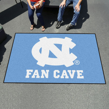 "59.5"" x 94.5"" University of North Carolina Fan Cave Blue Ulti Mat"