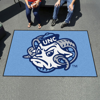 "59.5"" x 94.5"" University of North Carolina Ram Logo Blue Rectangle Ulti Mat"