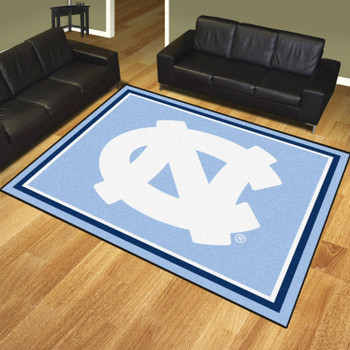 8' x 10' University of North Carolina Blue Rectangle Rug