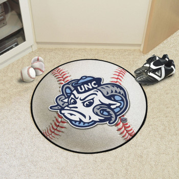 "27"" University of North Carolina Ram Logo Baseball Style Round Mat"