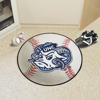 "27"" University of North Carolina Ram Logo Baseball Style Round Mat"