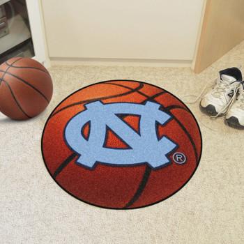 """27"""" University of North Carolina Orange Basketball Style Round Mat"""