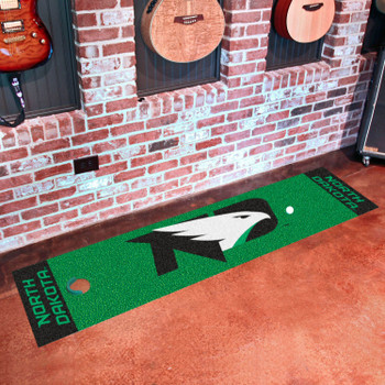 "18"" x 72"" University of North Dakota Putting Green Runner Mat"