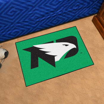 "19"" x 30"" University of North Dakota Green Rectangle Starter Mat"