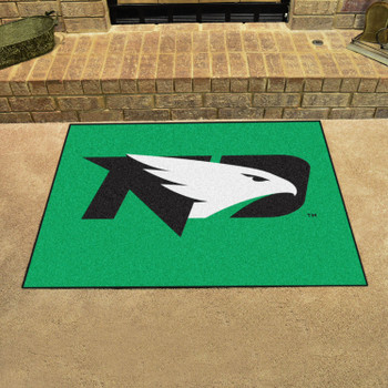 "33.75"" x 42.5"" University of North Dakota All Star Green Rectangle Mat"