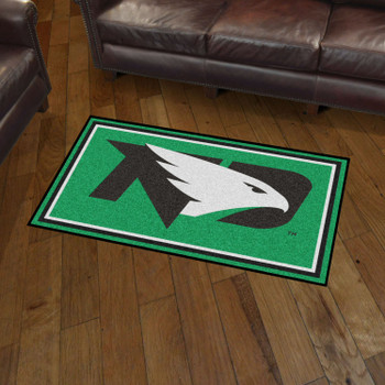 3' x 5' University of North Dakota Green Rectangle Rug