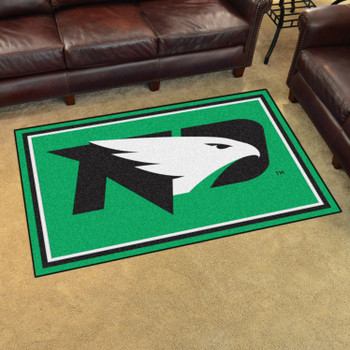 4' x 6' University of North Dakota Green Rectangle Rug