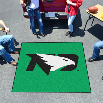 "59.5"" x 71"" University of North Dakota Green Tailgater Mat"