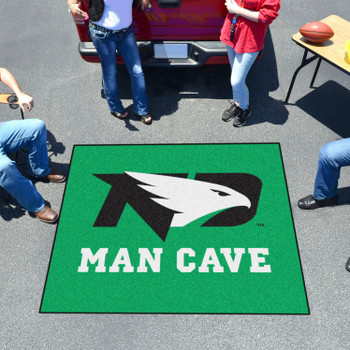 "59.5"" x 71"" University of North Dakota Man Cave Tailgater Green Rectangle Mat"