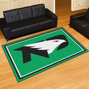5' x 8' University of North Dakota Green Rectangle Rug