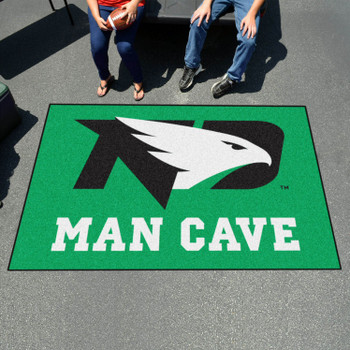 "59.5"" x 94.5"" University of North Dakota Man Cave Green Rectangle Ulti Mat"