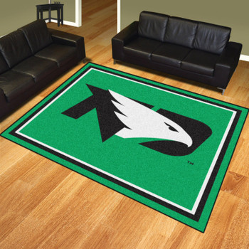 8' x 10' University of North Dakota Green Rectangle Rug