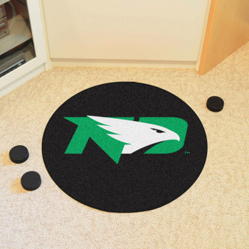 "27"" University of North Dakota Puck Round Mat - ""ND Hawk"" Logo"