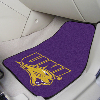 University of Northern Iowa Purple Carpet Car Mat, Set of 2