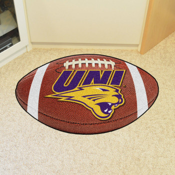 "20.5"" x 32.5"" University of Northern Iowa Football Shape Mat"