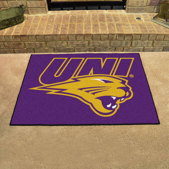 "33.75"" x 42.5"" University of Northern Iowa All Star Purple Rectangle Mat"