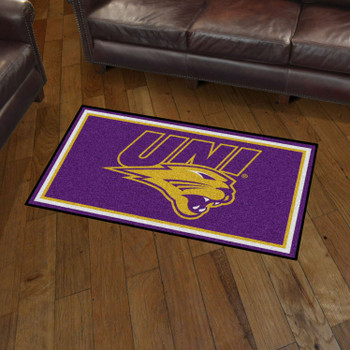 3' x 5' University of Northern Iowa Purple Rectangle Rug