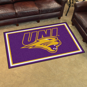 4' x 6' University of Northern Iowa Purple Rectangle Rug