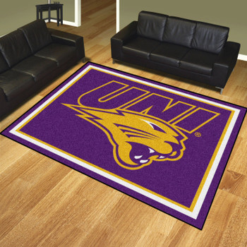 8' x 10' University of Northern Iowa Purple Rectangle Rug