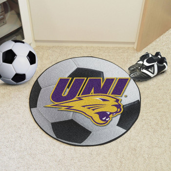"27"" University of Northern Iowa Soccer Ball Round Mat"