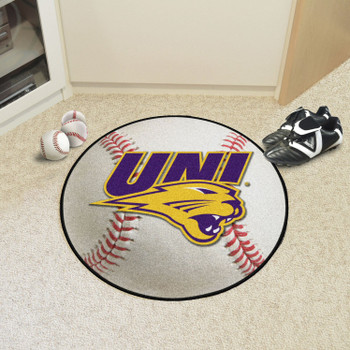 "27"" University of Northern Iowa Baseball Style Round Mat"