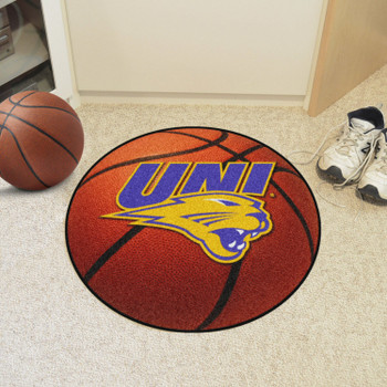 "27"" University of Northern Iowa Basketball Style Round Mat"