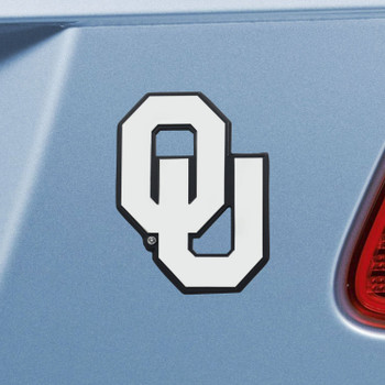 University of Oklahoma Chrome Emblem, Set of 2