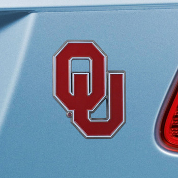 University of Oklahoma Red Color Emblem, Set of 2