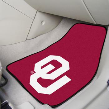 University of Oklahoma Red Carpet Car Mat, Set of 2