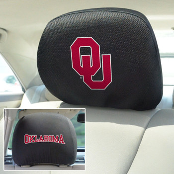 University of Oklahoma Car Headrest Cover, Set of 2
