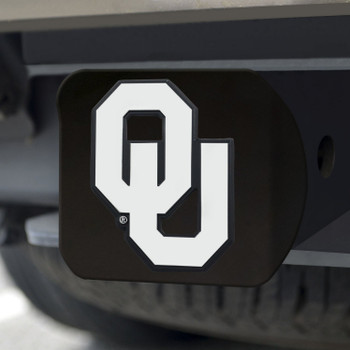 University of Oklahoma Hitch Cover - Chrome on Black
