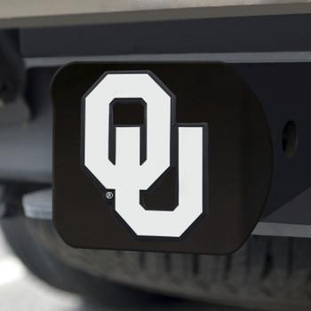 University of Oklahoma Hitch Cover - Chrome on Black