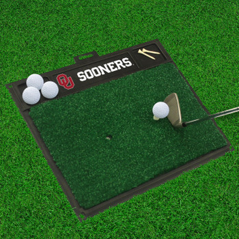 "20"" x 17"" University of Oklahoma Golf Hitting Mat"