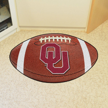 "20.5"" x 32.5"" University of Oklahoma Football Shape Mat"