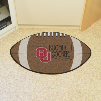 "20.5"" x 32.5"" University of Oklahoma Southern Style Football Shape Mat"