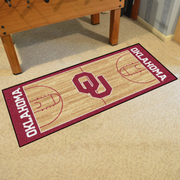 "30"" x 72"" University of Oklahoma NCAA Basketball Rectangle Runner Mat"