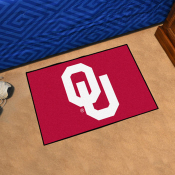 "19"" x 30"" University of Oklahoma Red Rectangle Starter Mat"