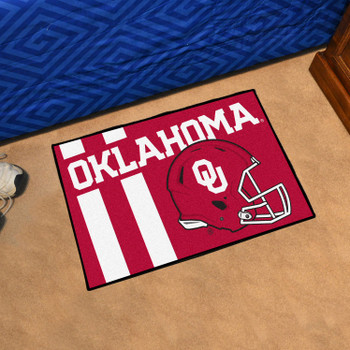 "19"" x 30"" University of Oklahoma Uniform Red Rectangle Starter Mat"