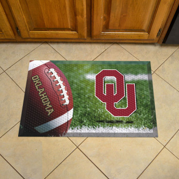 "19"" x 30"" University of Oklahoma Rectangle Scraper Mat - ""OU"" Logo"