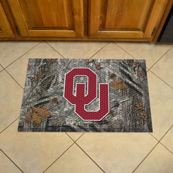 "19"" x 30"" University of Oklahoma Rectangle Camo Scraper Mat - ""OU"" Logo"