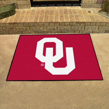 """33.75"""" x 42.5"""" University of Oklahoma All Star Red Rectangle Mat"""