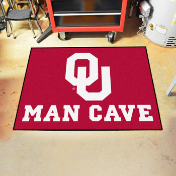 "33.75"" x 42.5"" University of Oklahoma Man Cave All-Star Red Rectangle Mat"