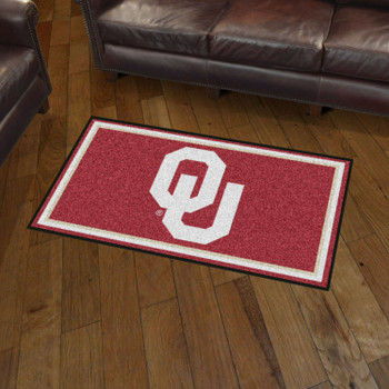 3' x 5' University of Oklahoma Maroon Rectangle Rug