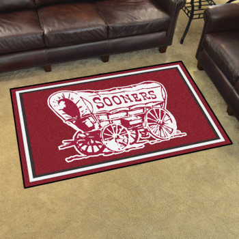 4' x 6' University of Oklahoma Red Rectangle Rug
